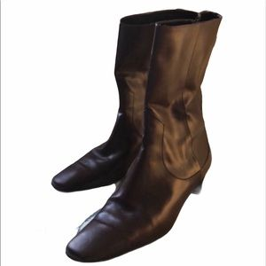 Cole Haan brown leather heeled Boots 6.5